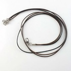 New wholesale black Leather Necklace Findings with hookers&clasps 45cm 130320