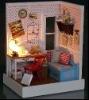 diy mini wooden doll house,children toys dollhouse