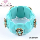 2012 Hot Sale Style Elastic Resin Charms Bracelet - PYBR4347