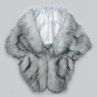 silver fox vest white fox fur shawl faux fur scarf