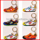 custom famous team shoes soft rubber keychain