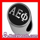 Antiqued Silver Alpha Epsilon Phi Sorority Charm Bead
