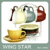 No.D960 ceramic solid cup and saucer in gift box