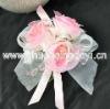 2011 pink best selling lovely wrist flowers wedding decoration/wedding gift/wedding supply