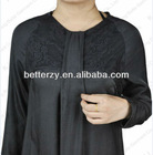 (KJ-WAB855) Hight qulity Abaya black fashion abaya muslim long dress modest style