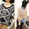 Geometric color matching sweater