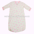 Two layers pure cotton thicken printed rabbit pattern baby sleeping bag