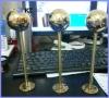 gold 66mm hollow ball