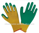 Latex coated wrinkle finished cotton lined industrial gloves