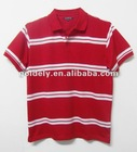 Man's striped polo shirt/cotton striped polo shirt