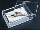 Clear Acrylic Playing Cards Box