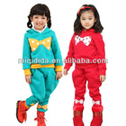 2012Newest instock items wholesale children winter casual sets for 2-12 years girls