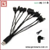 10 in 1 Universal multi USB Charger Cable for Cell Phone iPod PSP iPhone 3G MP3/MP4
