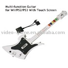 Multi-function Wireless Guitar for ps2/ ps3 / wii with touch screen
