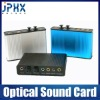 USB 2.0 External 7.1CH Optical Xear recording 3D Sound Card adapter - Silver