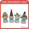 USB glitter light Snowman