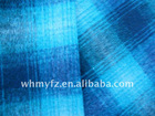 plaid fleece ver coating fabric for clothes winter coat