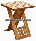 solid wooden folding stool,foldable stool,small wooden stool, walnut,oiled