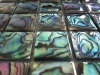 square cut thick shell moaic tiles,epoxy resin coating paua abalone shell mosaic