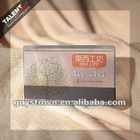 transparent plastic bussiness card for food shop