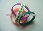 rubber 3D pvc wristband silicone bracelets