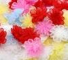 Mixed Organza Flowers Wedding Appliques Scrapbook