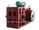 Single plastic screw extruder's warm gear box