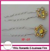 hot sale rhinestone flower cute hair pins