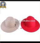 2012 new fashion plain girls felt bucket cap