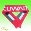 Knitted football scarf with Jacquard logo