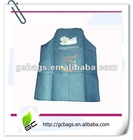 Blue polyester aprons with a big pocket for kitchen
