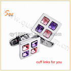ShenZhen beautiful squre four color sleeve liks,cuff link blanks