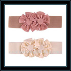 mellow decorative waistband with felt flower for girls