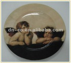 Angel round melamine serving plate