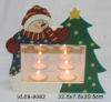 wooden T-light Candle Holder in infinitive & Xmas design