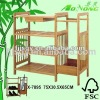 Eco-friendly 3 Tiers Bamboo Folding Shoes Shelf with Umbrella Rack and Small Drawer