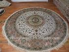 Round Persian Silk Rugs