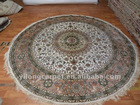 Round Persian Silk Rugs