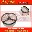 air filter Auto filter part for TOYOTA air filter 17801-63010