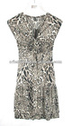 Women's evening dress made of 95% viscose 5% spandex, all over printed