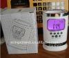 seven color nature sound penholder digital alarm clock