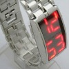 Newest fashion Lava style red blue/red light LED watch