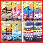 Whosale Baby Socks with lovely animal Baby Outdoor Shoes, Baby Anti-slip Walking Socks