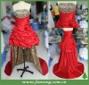 Stunning strapless neckline hi-lo prom gowns