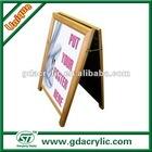 Wooden A-Frame bar chalkboard