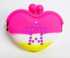 2012 Newest jelly silicone purse,silicone heart shape purse