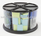 """Carousel Organizer 6"""" Canister Set Black(Wholesale Packing)"""