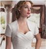 2011 white new styles short sleeve Satin wedding bolero JK035