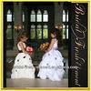 Hot Sale Long Taffeta Sleeveless Nice Flowers Girl First Communion Dress