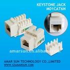 90 degree UTP RJ45 CAT6 Keystone Jack